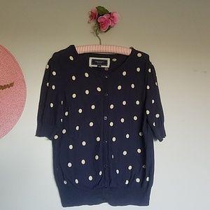 AE Polka Dot Cardigan Sweater